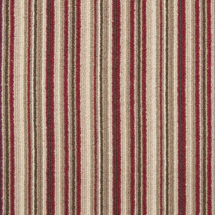 Abingdon Carpets Wilton Royal Malvern Stripe Red